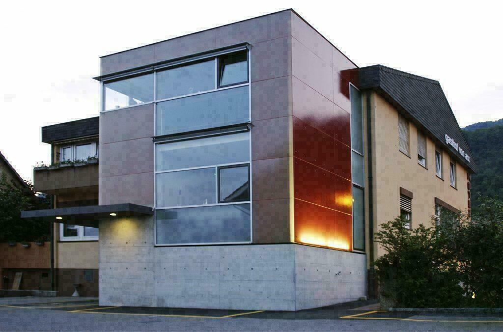 Materiales para fachadas exteriores great detalle de - Materiales para fachadas exteriores ...