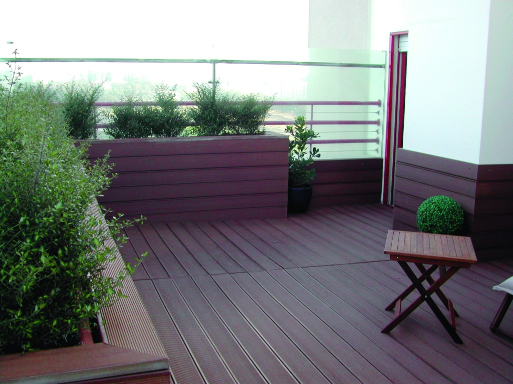 Imitation wood decking and outdoor terraces 2