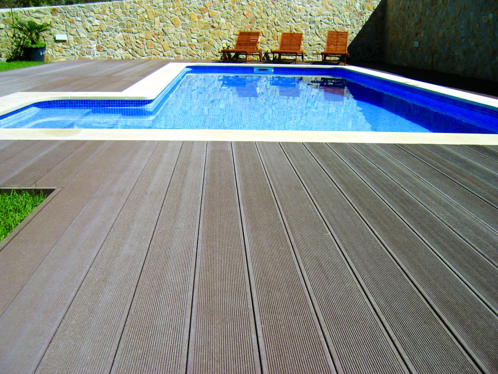 Imitation wood decking and outdoor terraces