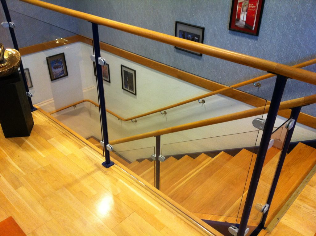 Stairs and acrylic railings 3
