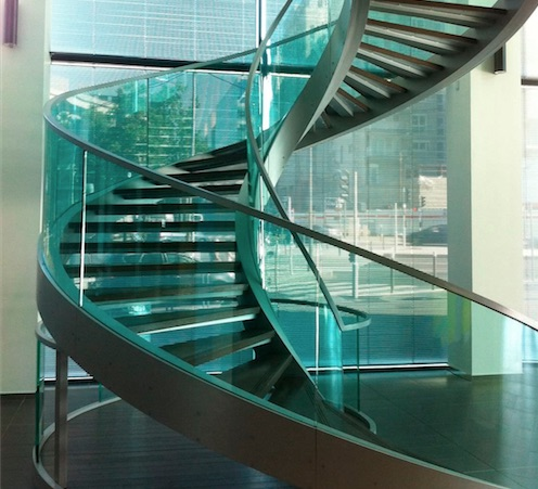 Stairs and acrylic railings 8