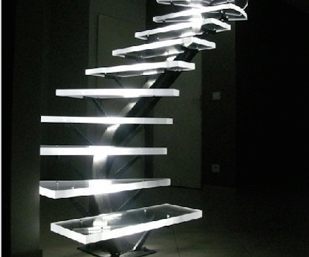 Stairs and acrylic railings 7