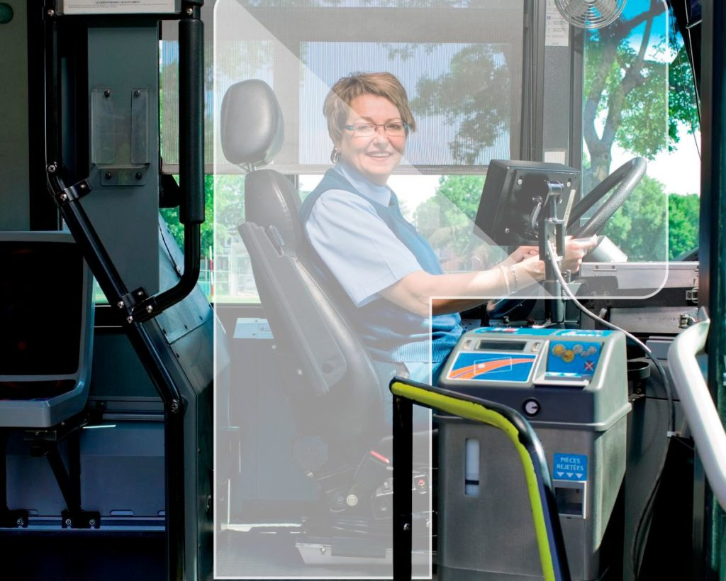 Vitroflex PC for bus screens